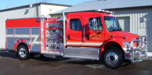 4WD 4DR Curbside CAFS Commercial Pumper Angle