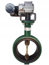 Electric Butterfly Valve w/Manual Override