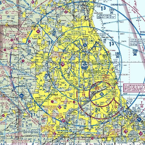 Chicago airspace map